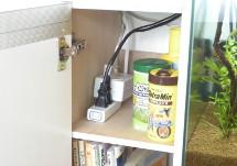 水槽の地震対策4_ホコリや水がかからない工夫